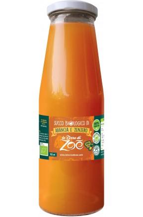 Succo di frutta calabrese biologico di arancia e zenzero di Le Terre di Zoè