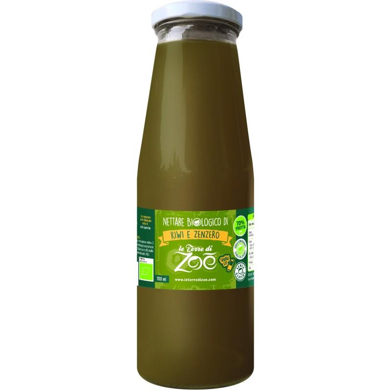 Succo di frutta calabrese biologico di kiwi e zenzero di Le Terre di Zoè