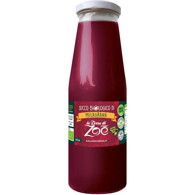 Succo di frutta calabrese biologico di melagrana di Le Terre di Zoè