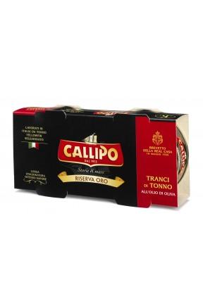 Tranci di tonno con olio di oliva riserva oro 2x160 di Callipo