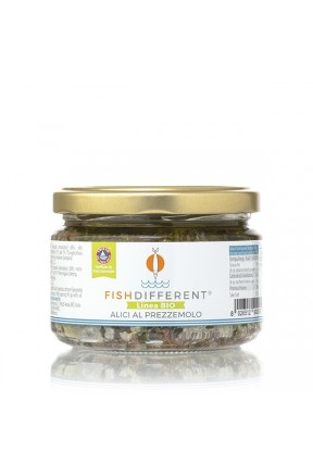 Alici intere biologiche con prezzemolo di Fish Different