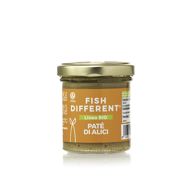 Patè di alici biologico di Fish Different