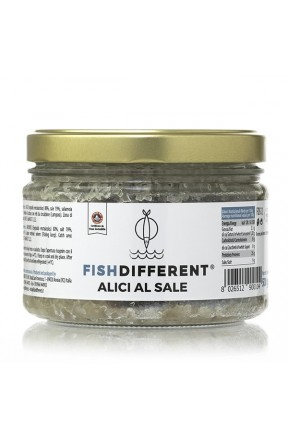 Alici al sale biologiche di Fish Different