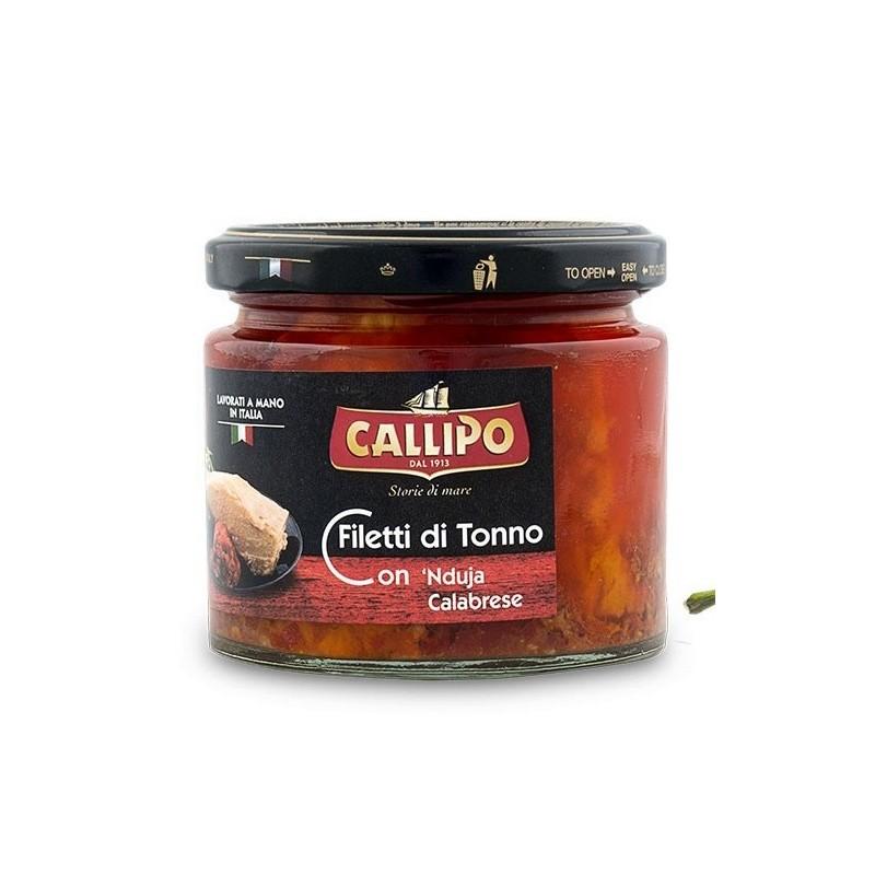 Trancetti di tonno con nduja e olio di oliva di Callipo