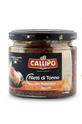 Trancetti di tonno con pomodori secchi e olio di oliva di Callipo