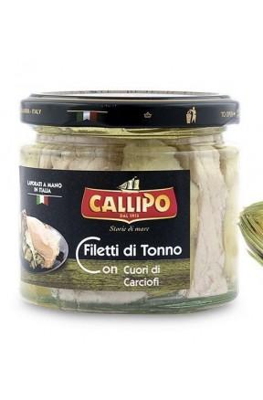 Trancetti di tonno con carciofi e olio di oliva di Callipo