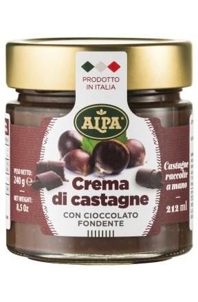 Crema di castagne con cioccolato fondente di Alpa