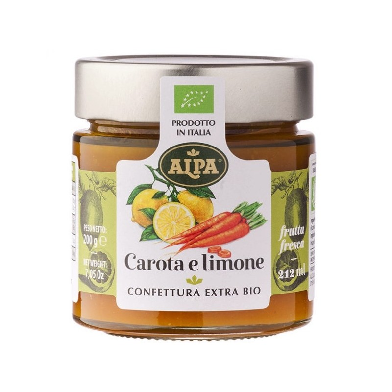 Confettura di carote e limone biologica di Alpa