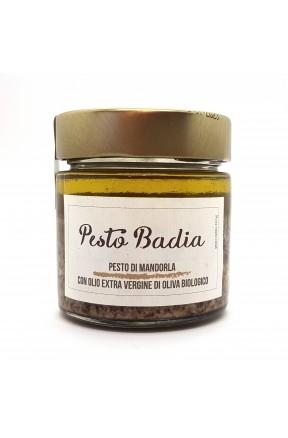 Pesto di mandorla con olio extravergine di Frantoio Badia