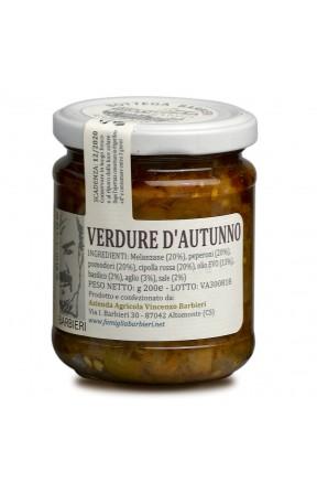 Antipasto calabrese verdure d'autunno di Bottega Barbieri Altomonte