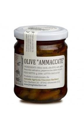Olive calabresi schiacciate a mano di Bottega Barbieri Altomonte