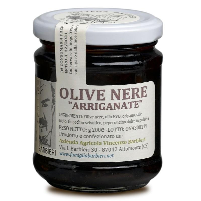 Olive nere calabresi arriganate di Bottega Barbieri Altomonte