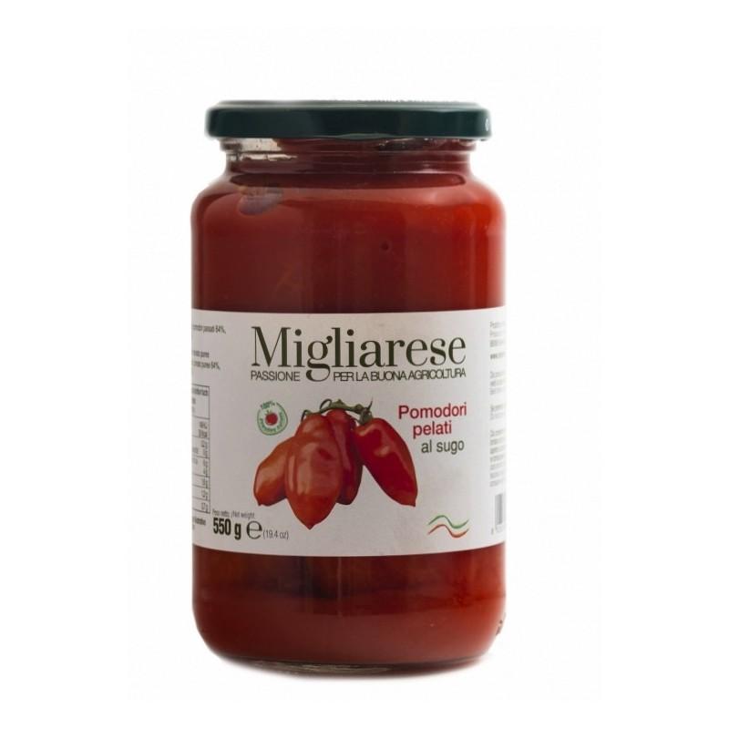 Pomodori pelati al sugo 550gr di Fattorie Migliarese