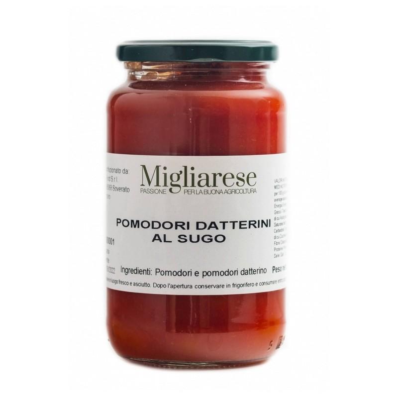 Pomodori datterini al sugo 550gr di Fattorie Migliarese