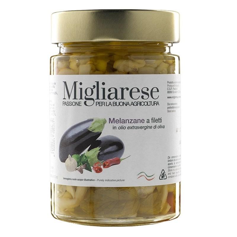 Melanzane a filetti biologiche di Fattorie Migliarese