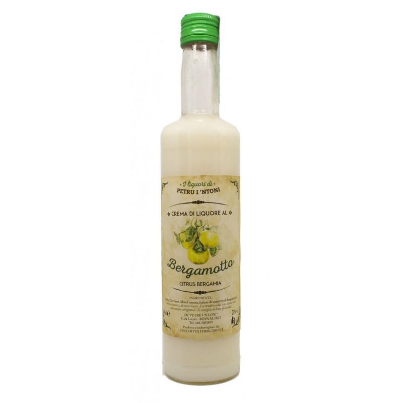 Crema di Liquore di bergamotto calabrese 50cl di Petru i Ntoni