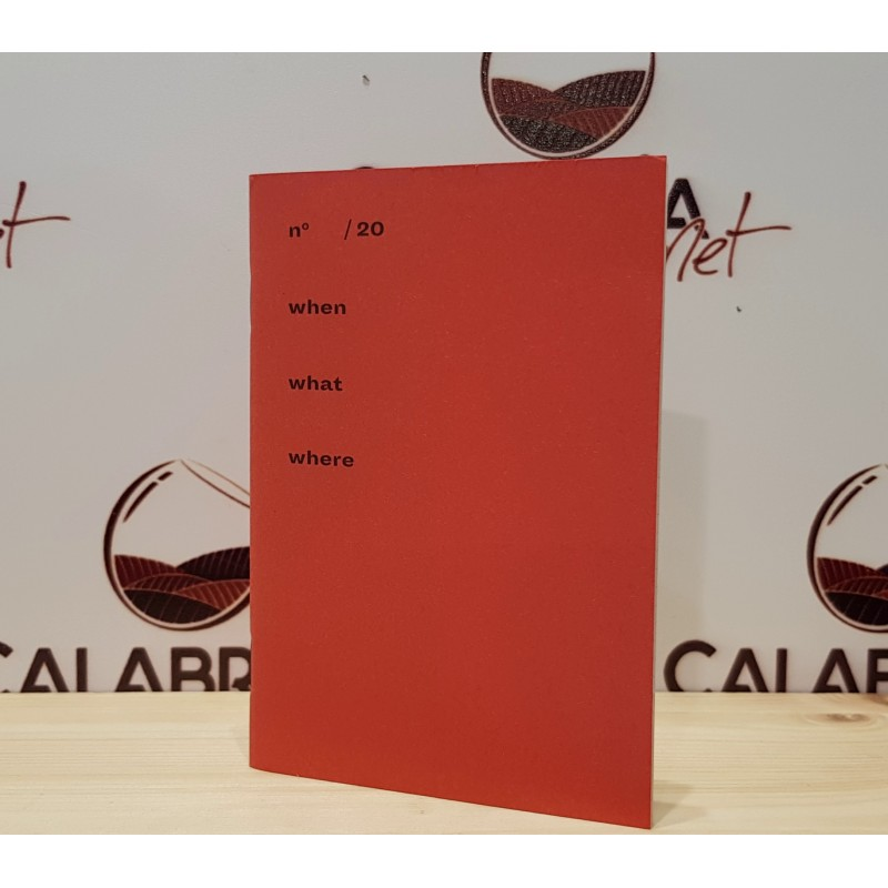 Quaderno rosso piccolo a righe - ideale per degustazioni - di Positional
