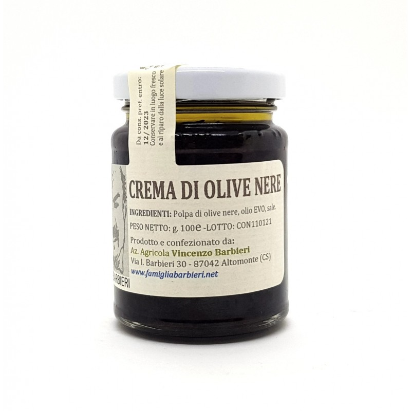 Crema di olive nere calabresi di Bottega Barbieri Altomonte