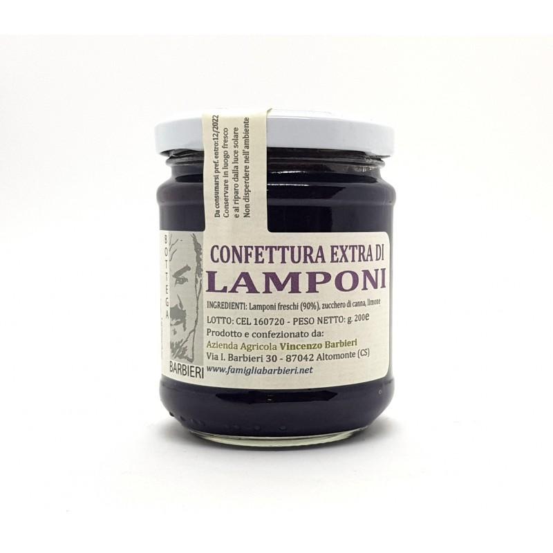 Confettura extra di lamponi della Sila di Bottega Barbieri Altomonte