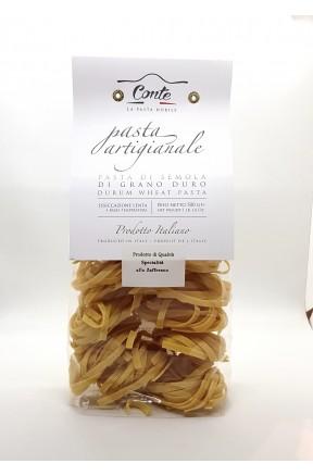 Pasta trafilata a bronzo tagliatelle allo zafferano di Andrea Conte