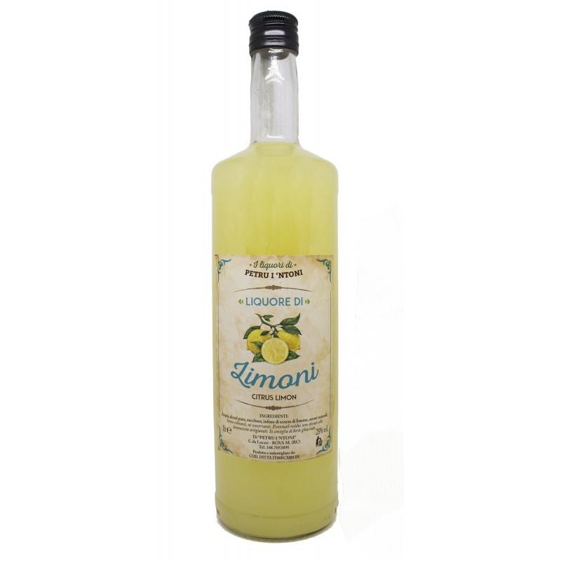 Liquore di limoncello calabrese 1 litro di Petru i Ntoni