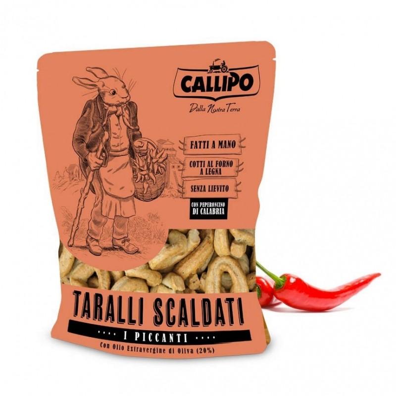 Taralli artigianali scaldati al peperoncino di Callipo