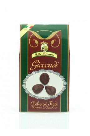 Giocondi neri 250gr fichi non farciti con cioccolato extra di Marano